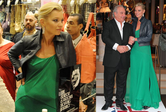 Photos of Kate Moss and Philip Green at the Topshop Store