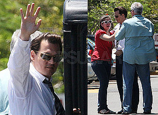 Photos of Johnny Depp on the Puerto Rico Set of The Rum Diary