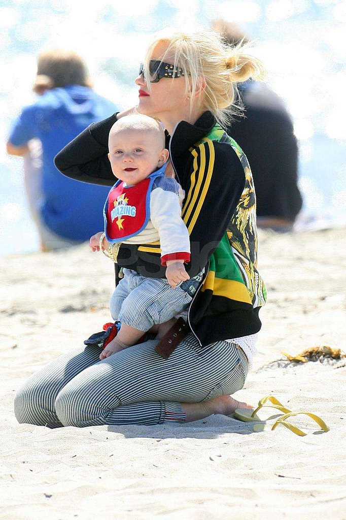 Gwen and Her Boys at The Beach