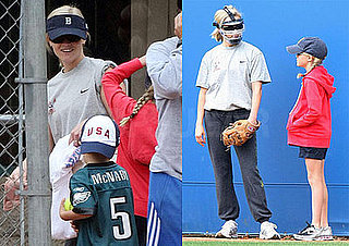 Photos of Reese Witherspoon With Deacon Phillippe and Ava Phillippe Playing Softball
