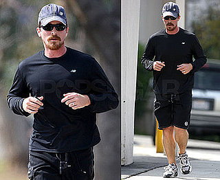 Photos of Christian Bale Jogging in LA