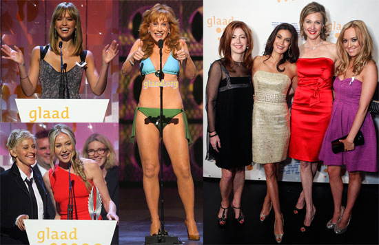 Photos of Jessica Alba, Ellen DeGeneres, Portia De Rossi, Kathy Griffin in Bikini at 2009 GLAAD Media Awards in Los Angeles