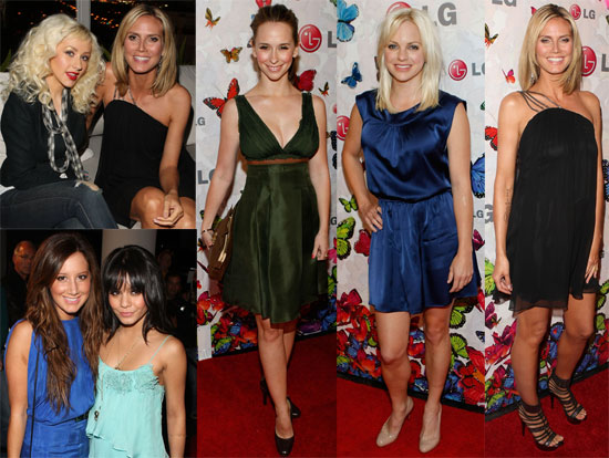 Photos of Heidi Klum, Christina Aguilera, Jennifer Love Hewitt, Ashley Tisdale, Vanessa Hudgens at LG Event