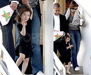 Photos of Suri Cruise and Katie Holmes Leaving a Dance Studio in LA