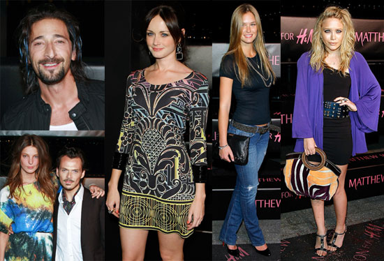Photos of Mary-Kate Olsen, Patricia Field, Bar Refaeli, Adrien Brody, Alexis Bledel at the Matthew Williamson for H&M Launch
