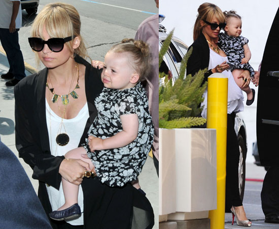 Photos of Nicole Richie, Lionel Richie, Harlow Madden Heading to Larry King Live