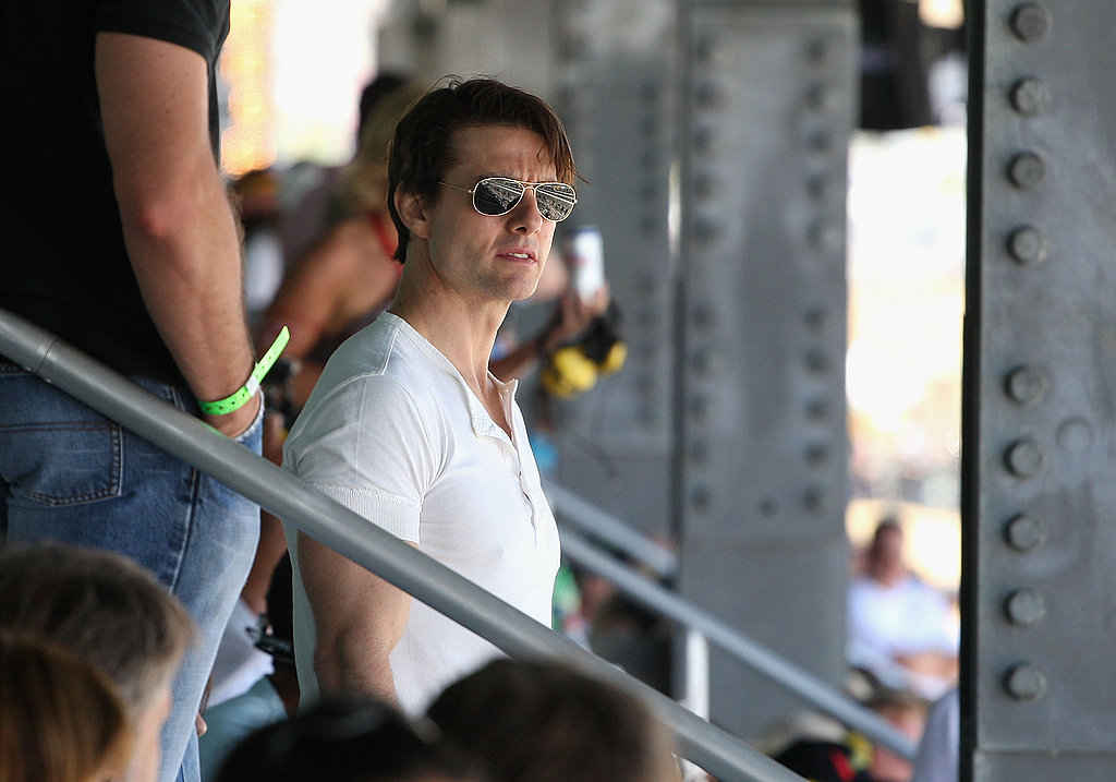 Tom Cruise Watches the Race