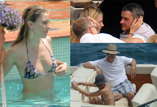 Sienna Miller Bikini Photos with Balthazar Getty In Positano Italy