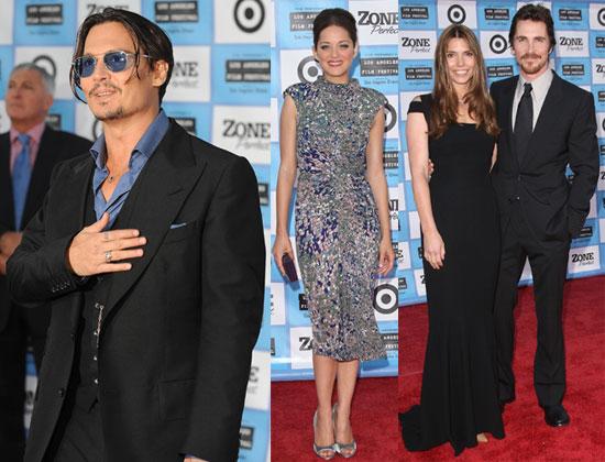 Photos of Johnny Depp, Christian Bale, Marion Cotillard from LA Premiere of Public Enemies
