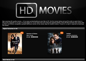 HD Movies Come to iTunes