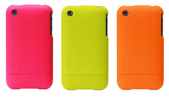 InCase Fluro Slider Case for iPhone 3G Available in Neon Bright Colors Green, Orange and Hot Pink