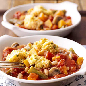 Slow Cooker Recipe For Vegetable Stew With Cornmeal Dumplings