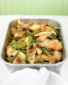 Recipe For Roast Chicken With Asparagus and Potatoes