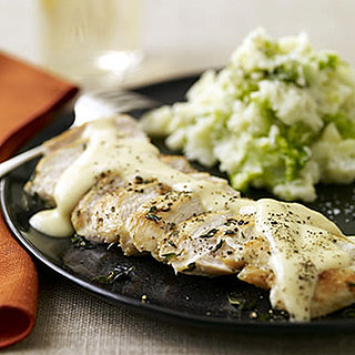 Fast & Easy Recipe For Quick Chicken With Gouda Gravy and Smashed Potatoes