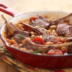 Fast & Easy Dinner: Tuscan Lamb Chop Skillet