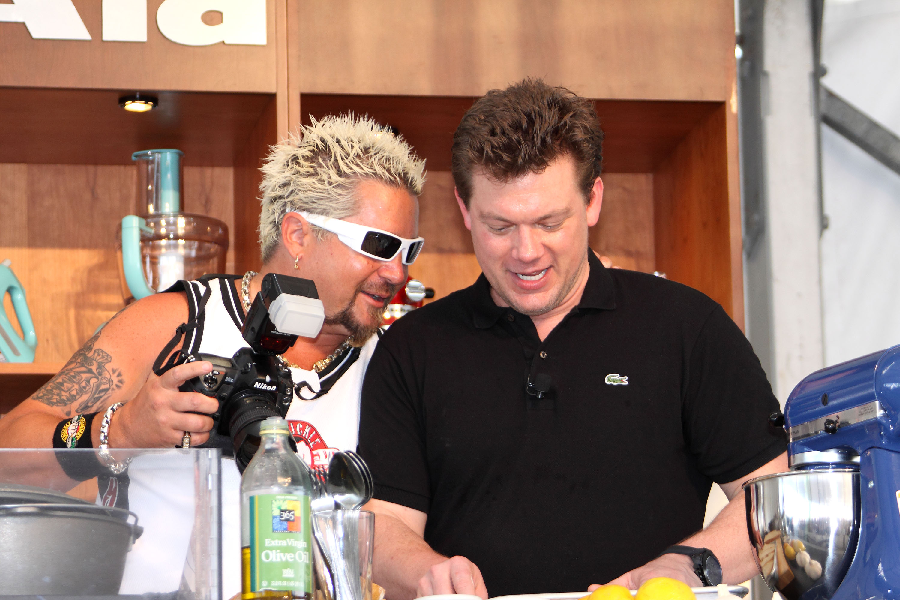 Guy Fieri and Tyler Florence