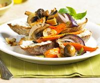 Fast & Easy Dinner: Skillet Vegetables on Cheese Toast