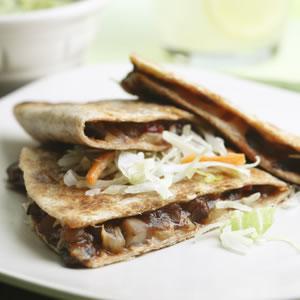 Fast & Easy Dinner: Barbecue Portobello Quesadillas