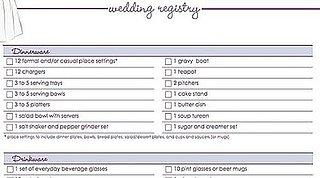 Download Our Free Wedding Registry Checklist