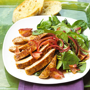 Fast & Easy Dinner: Spinach Salad With Chili Pepper Chops