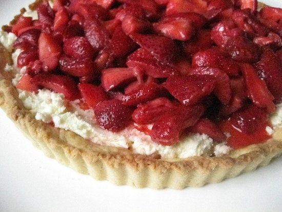 Surprise Mom With Strawberry Mascarpone Tart
