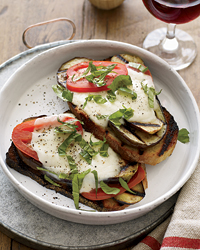 Fast & Easy Dinner: Open-Faced Grilled Eggplant Sandwiches