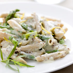 Fast & Easy Dinner: Creamy Asparagus Pasta