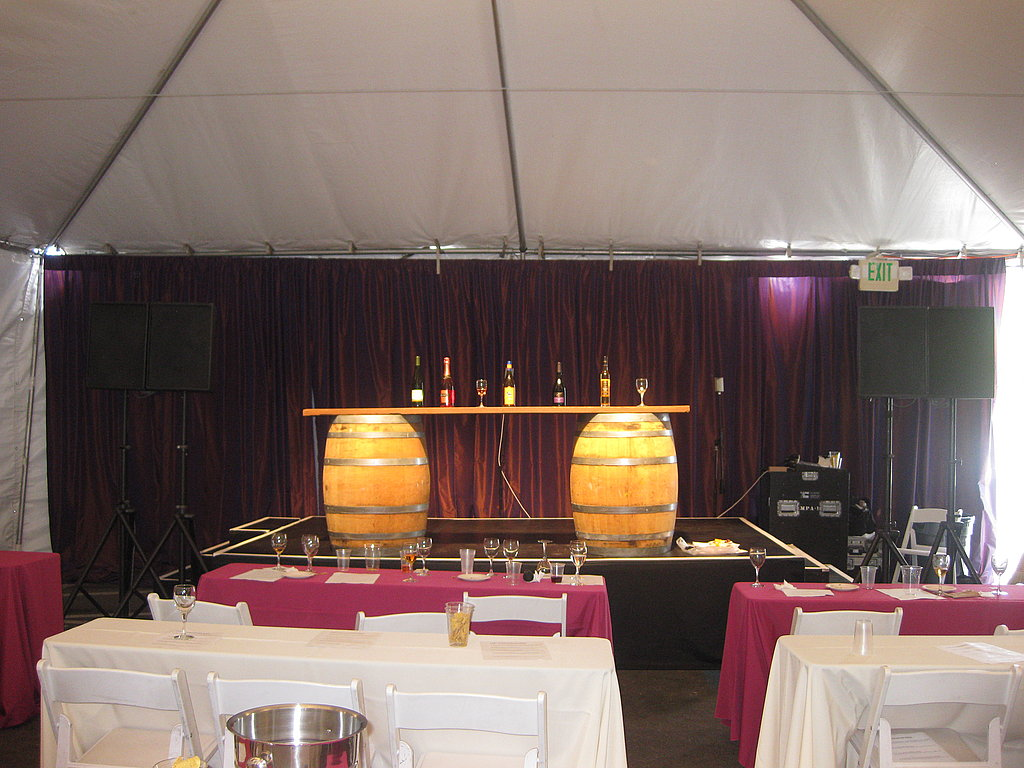 Several wine seminars were held in this tent.
