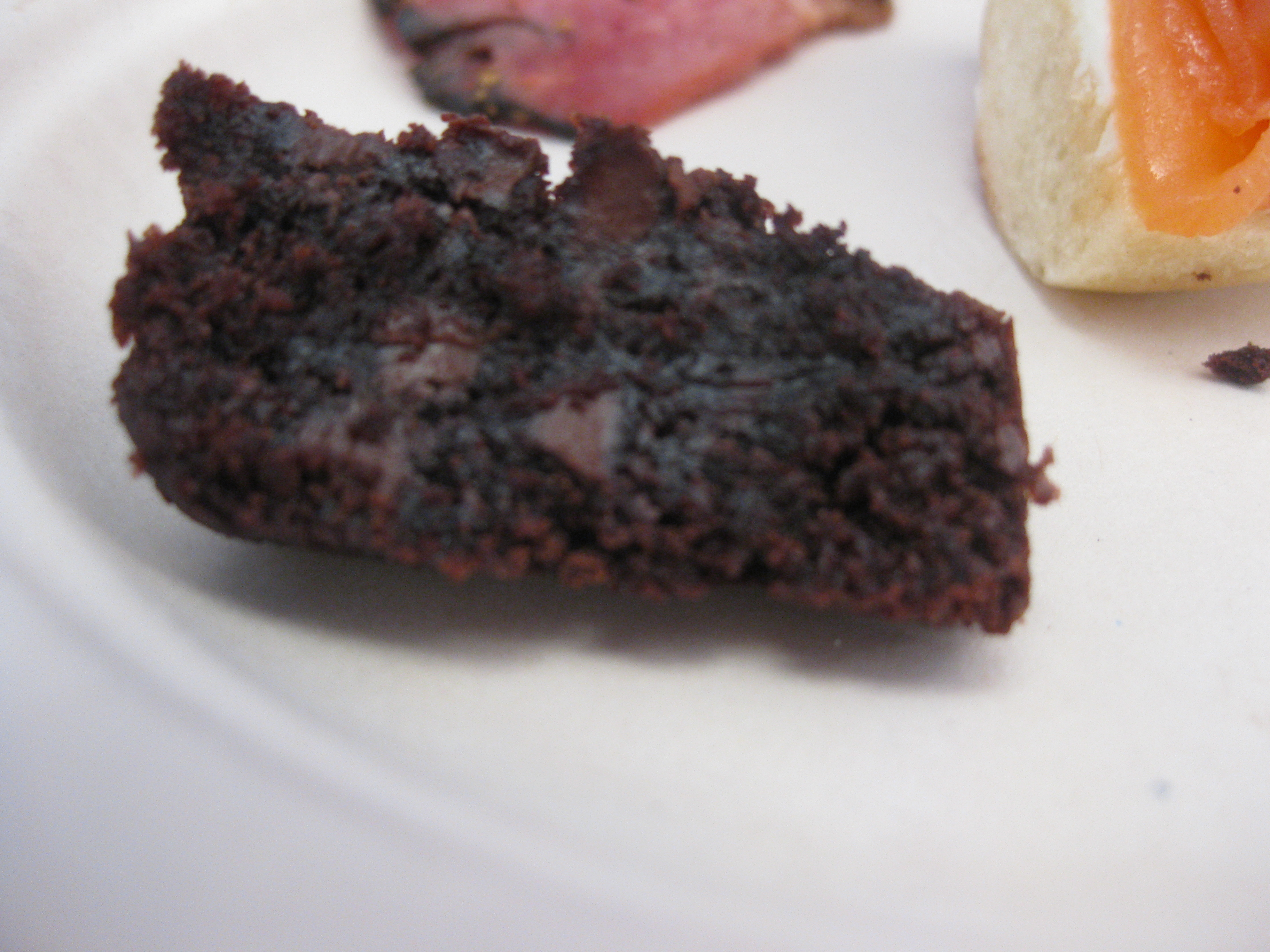 Chocolate cake was paired with a late-harvest Viogner from Lodi.