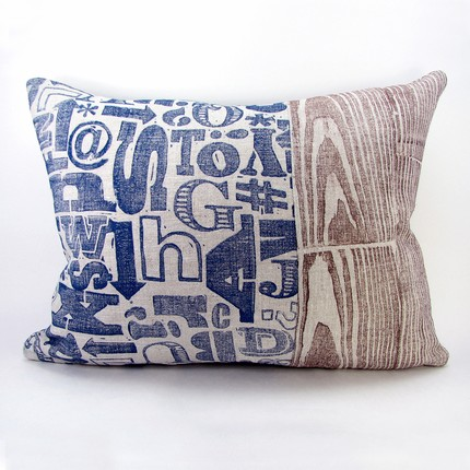 Block Printed Linen Pillow Cover by 1girl1boy on Etsy