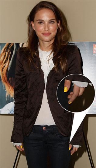 Natalie Portman's Yellow Nail Polish