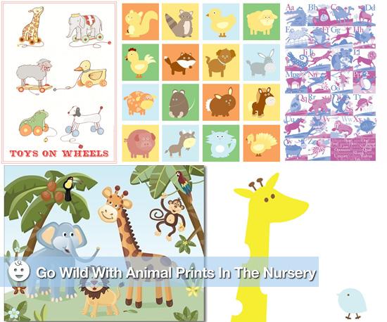 Animal Print Nursery Wall Art