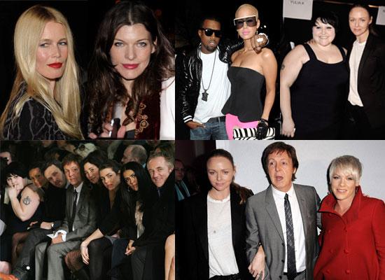 Photos of Stella McCartney, Beth Ditto, Salma Hayek, Pink, Thandie Newton, Kanye West and Paul McCartney at Paris Fashion Week