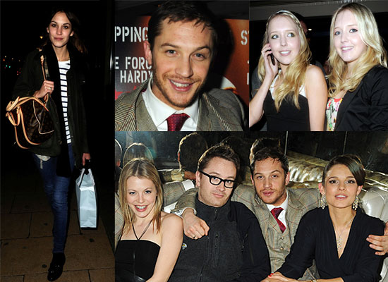 Photos From The Bronson Premiere In London Featuring Tom Hardy, Alexa Chung. Bronson's Recorded Message Played At Screening.