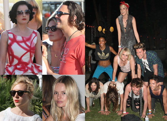 Photos Of Agyness Deyn, Dita Von Teese, Chloe Sevigny, Cat Deeley, Alex Greenwald, Kirsten Dunst, Kate Bosworth at Coachella