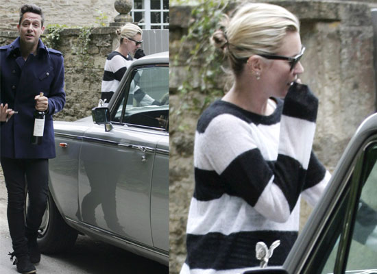 Photos of Kate Moss and Jamie Hince In The Cotswolds