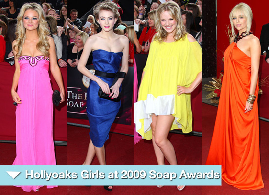 Hollyoaks Girls at 2009 British Soap Awards