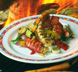 Grilled Rock Lobster