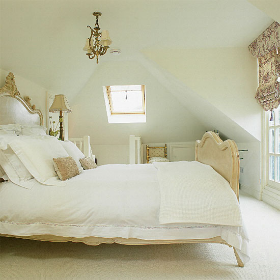 glamorous country chic bedroom decorating ideas | Country glamour defines this white bedroom. | 15 Romantic ...