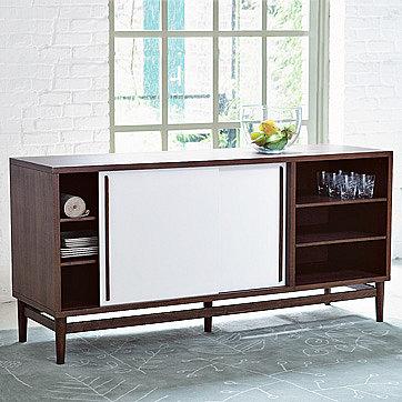 modern storage console| west elm