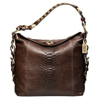 The Bag To Have: Coach Camilla Printed Python Hobo