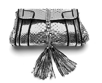 Guess Who Designed This Metallic Python Clutch?