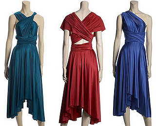 Simply Fab: Calypso Satin Convertible Wrap Dress