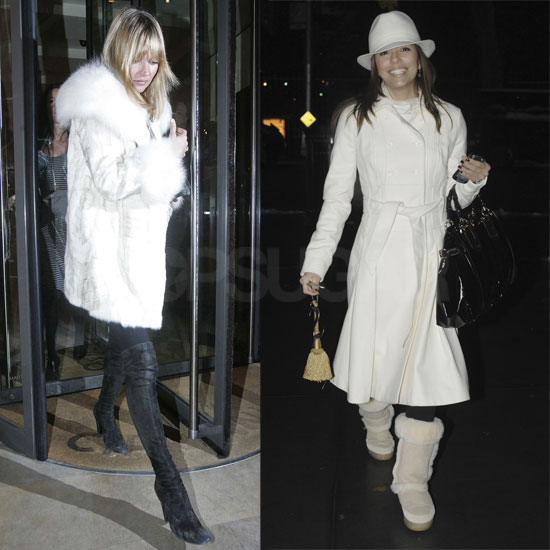 Compare & Contrast: Wearing a Winter White Coat