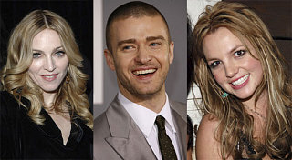 Justin's Been Busy with Madonna and Britney!