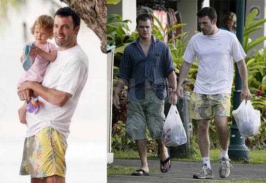 Matt & Ben Share Adorable Hawaiian Father's Day