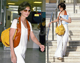 Katie Exits Eden Roc Leather Vested