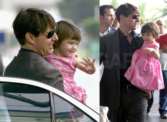 Suri and Tom Say Bye-Bye South of France
