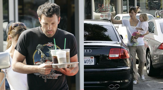 Ben, Jen and Violet Make a Stop for Starbucks