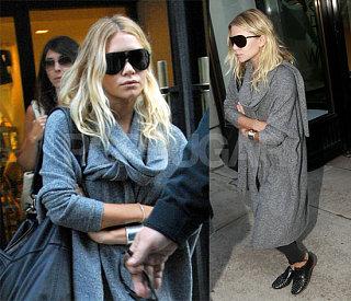 Ashley Bundles Up For Fashion Week